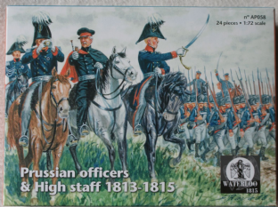 Waterloo 1815 1/72 WATAP058 Prussian Officers & High Staff (Napoleonics)